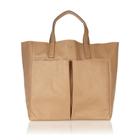 【anya hindmarch】アニヤハインドマーチNevis leather shopper tote レザー ショッパー トート バッグ(ナチュラル) [a013130315]