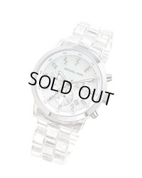 【MICHAEL KORS】マイケルコース Quartz, Mother of Pearl Dial Acrylic Clear Band - Womens Watch MK5235☆時計☆