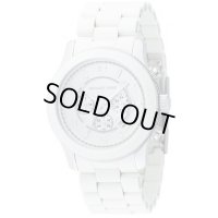 【MICHAEL KORS】Michael Kors マイケルコース Men's White Oversized Chronograph Watch☆時計☆