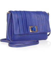 【anya hindmarch】アニヤハインドマーチGracie Mini leather shoulder bag ミニ レザー ショルダー バッグ (ブルー)