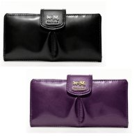 【Coach】Coach Madison Patent Leather Skinny Wallet  コーチ マディソン パテント レザー スキニー 長財布★セール★