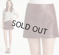 【 T BY ALEXANDER WANG】T by Alexander Wang Leather Mini Skirt レザー ミニ スカート★セール★
