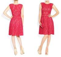 【 BCBGMAXAZRIA】 BCBGMAXAZRIA Khloe Floral Lace Dress フラワー レース ドレス ワンピース