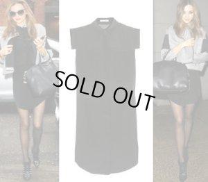 画像1: 【 T BY ALEXANDER WANG】ミランダ愛用 Panel Silk Shirt Dress パネル シルク シャツ ワンピース ドレス