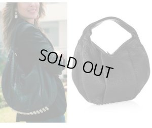 画像1: 【Alexander Wang】Morgan Studded textured-leather shoulder hobo bag  スタッズ レザー ホーボー ショルダー バッグ