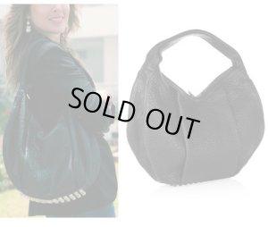 画像1: 【Alexander Wang】Morgan Studded textured-leather shoulder hobo bag  スタッズ レザー ホーボー ショルダー バッグ
