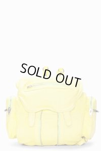 【Alexander Wang】Citrus Yellow Washed Lambskin Marti Backpack・