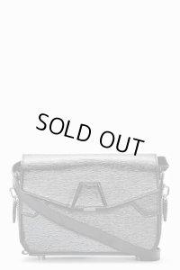 【Alexander Wang】Black Patent Leather Straw Embossed Lydia Shoulder Bag・