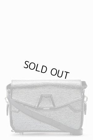 画像1: 【Alexander Wang】Black Patent Leather Straw Embossed Lydia Shoulder Bag・