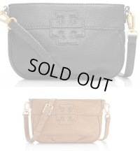 "【tory burch】Stacked ""T"" Leather Small Crossbody"