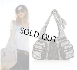 画像1: 【Alexander Wang】 Donna printed leather shoulder bag レザー ショルダー トート バッグ