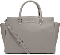 【MICHAEL KORS】 Michael Kors Large Selma Top-Zip Satchel saffiano leather Tote Bagマイケル コース ラージメッセンジャー ショルダー バッグ