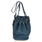 【Alexander Wang】ALEXANDER WANG Diego leather studded bucket shoulder bag  ディエゴ スタッズ レザー バケット ショルダー トート バッグ[X030130416]