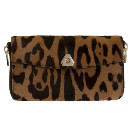 cheap for discount d0ef4 d1023 【Alexander Wang】Alexander Wang BROWN LEOPARD CALF-HAIR TRIGONE WALLET  ブラウン  レオパード カーフ ヘアー 長財布